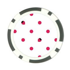 Strawberry Dots Pink Poker Chip Card Guard (10 Pack)