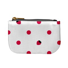 Strawberry Dots Pink Mini Coin Purse