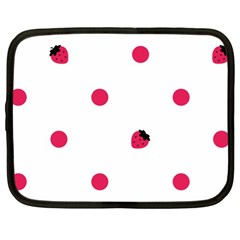 Strawberry Dots Pink Netbook Case (xl)