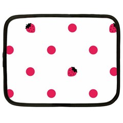 Strawberry Dots Pink Netbook Case (XXL)