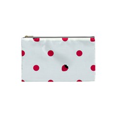 Strawberry Dots Pink Cosmetic Bag (Small)