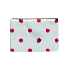 Strawberry Dots Pink Cosmetic Bag (Medium)