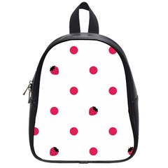 Strawberry Dots Pink School Bag (Small)
