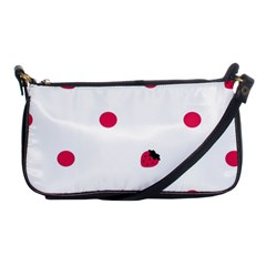 Strawberry Dots Pink Shoulder Clutch Bag