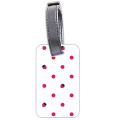 Strawberry Dots Pink Luggage Tag (one Side)