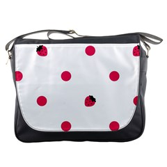 Strawberry Dots Pink Messenger Bag