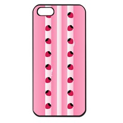 Strawberry Cream Cake Apple iPhone 5 Seamless Case (Black)