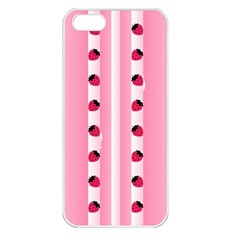 Strawberry Cream Cake Apple Iphone 5 Seamless Case (white)
