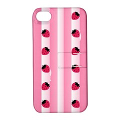 Strawberry Cream Cake Apple iPhone 4/4S Hardshell Case with Stand