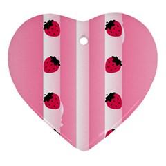 Strawberry Cream Cake Ornament (Heart)
