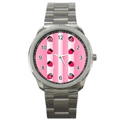 Strawberry Cream Cake Sport Metal Watch