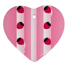 Strawberry Cream Cake Heart Ornament (Two Sides)