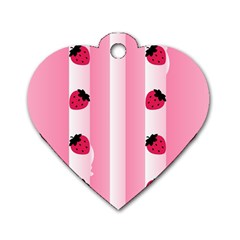 Strawberry Cream Cake Dog Tag Heart (two Sides)