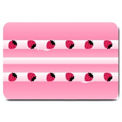 Strawberry Cream Cake Large Doormat