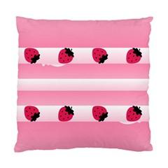 Strawberry Cream Cake Cushion Case (One Side)