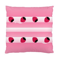 Strawberry Cream Cake Cushion Case (two Sides)