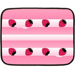Strawberry Cream Cake Mini Fleece Blanket(two Sides)