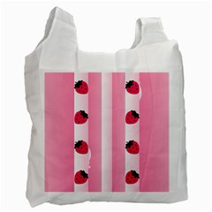 Strawberry Cream Cake Recycle Bag (One Side)