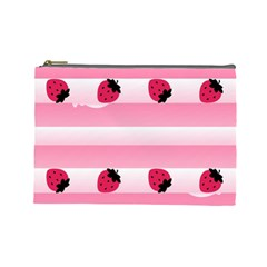 Strawberry Cream Cake Cosmetic Bag (Large)