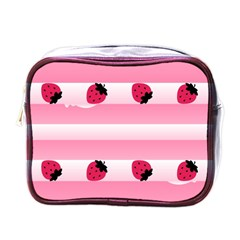 Strawberry Cream Cake Mini Toiletries Bag (one Side)