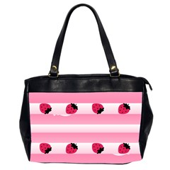 Strawberry Cream Cake Oversize Office Handbag (Two Sides)
