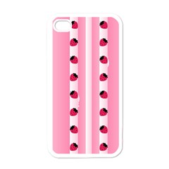 Strawberry Cream Cake Apple iPhone 4 Case (White)