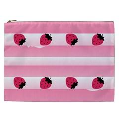 Strawberry Cream Cake Cosmetic Bag (XXL)