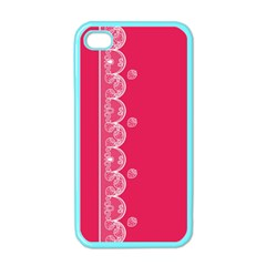 Strawberry Lace White With Pink Apple iPhone 4 Case (Color)