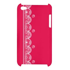 Strawberry Lace White With Pink Apple iPod Touch 4G Hardshell Case