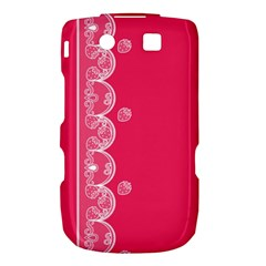 Strawberry Lace White With Pink BlackBerry Torch 9800 9810 Hardshell Case