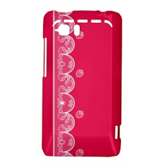 Strawberry Lace White With Pink HTC Vivid / Raider 4G Hardshell Case