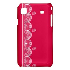 Strawberry Lace White With Pink Samsung Galaxy S i9008 Hardshell Case