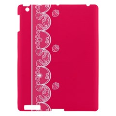 Strawberry Lace White With Pink Apple iPad 3/4 Hardshell Case
