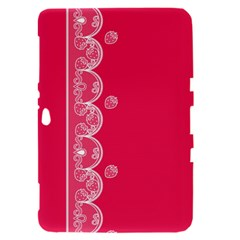 Strawberry Lace White With Pink Samsung Galaxy Tab 8.9  P7300 Hardshell Case