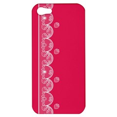 Strawberry Lace White With Pink Apple Iphone 5 Hardshell Case