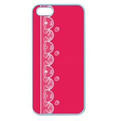 Strawberry Lace White With Pink Apple Seamless iPhone 5 Case (Color)