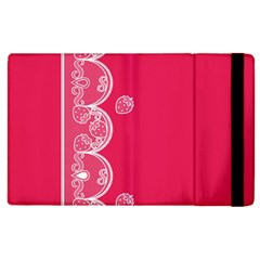 Strawberry Lace White With Pink Apple Ipad 2 Flip Case