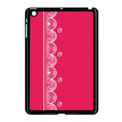 Strawberry Lace White With Pink Apple Ipad Mini Case (black)