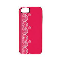 Strawberry Lace White With Pink Apple iPhone 5 Classic Hardshell Case (PC+Silicone)