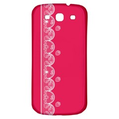 Strawberry Lace White With Pink Samsung Galaxy S3 S III Classic Hardshell Back Case