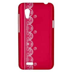 Strawberry Lace White With Pink HTC Desire VT T328T Hardshell Case