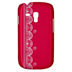 Strawberry Lace White With Pink Samsung Galaxy S3 MINI I8190 Hardshell Case