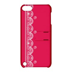 Strawberry Lace White With Pink Apple Ipod Touch 5 Hardshell Case With Stand