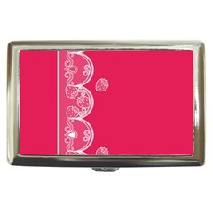 Strawberry Lace White With Pink Cigarette Money Case