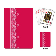 Strawberry Lace White With Pink Playing Cards Single Design