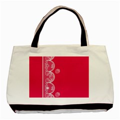 Strawberry Lace White With Pink Classic Tote Bag