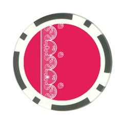 Strawberry Lace White With Pink Poker Chip Card Guard (10 pack)