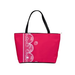Strawberry Lace White With Pink Classic Shoulder Handbag
