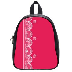 Strawberry Lace White With Pink School Bag (Small)