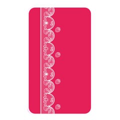 Strawberry Lace White With Pink Memory Card Reader (Rectangular)